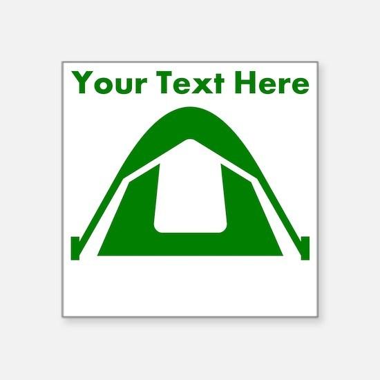 Custom Green Camping Tent Sticker