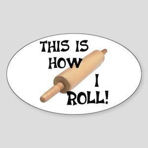Rolling Pin Oval Sticker