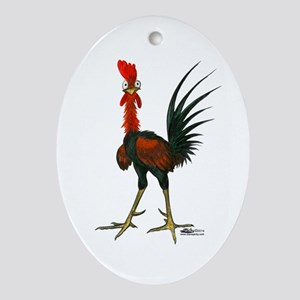 Crazy Rooster Ornament (oval)