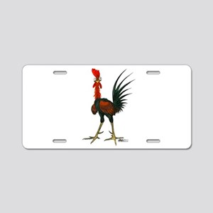 Crazy Rooster Aluminum License Plate