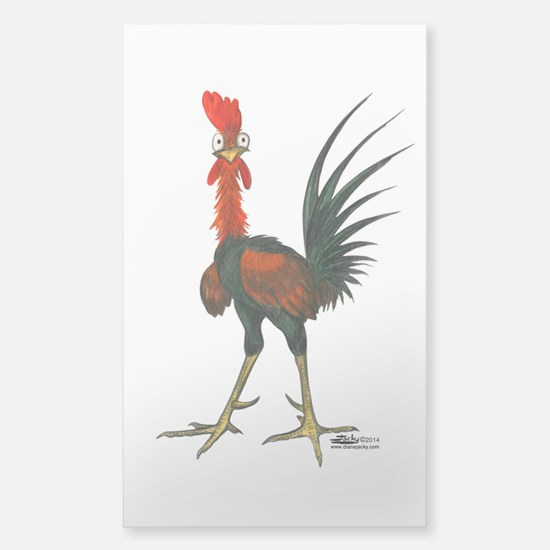 Crazy Rooster Decal