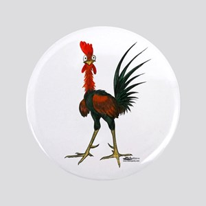 """Crazy Rooster 3.5"""" Button"""