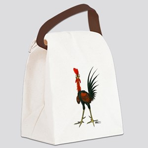 Crazy Rooster Canvas Lunch Bag