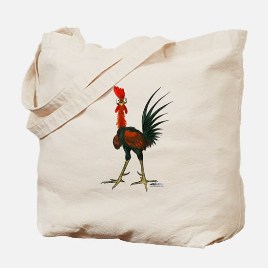 Crazy Rooster Tote Bag