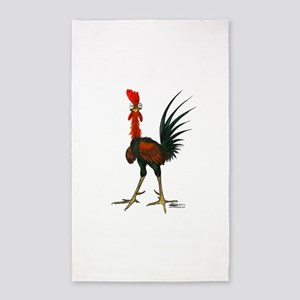 Crazy Rooster Area Rug