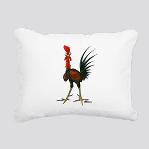 Crazy Rooster Rectangular Canvas Pillow