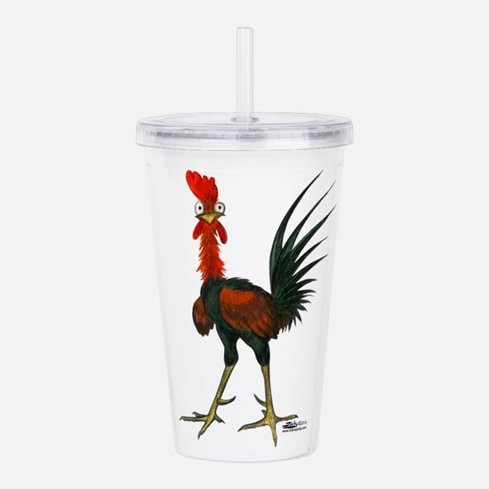 Crazy Rooster Acrylic Double-wall Tumbler