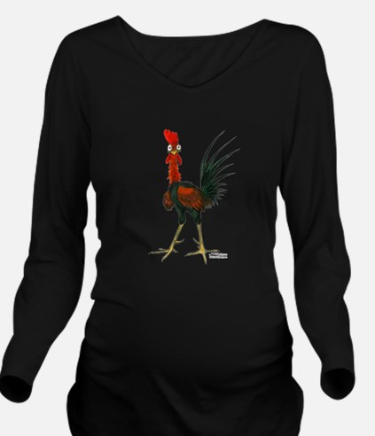 Crazy Rooster Long Sleeve Maternity T-Shirt