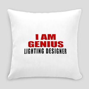 I Am Genius Lighting designer Everyday Pillow