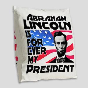 Lincoln 4ever Burlap Throw Pillow