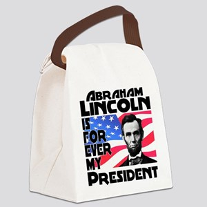 Lincoln 4ever Canvas Lunch Bag