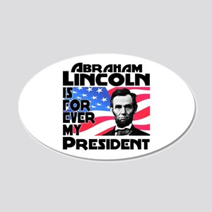 Lincoln 4ever 20x12 Oval Wall Decal