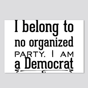 I belong to no organized Postcards (Package of 8)