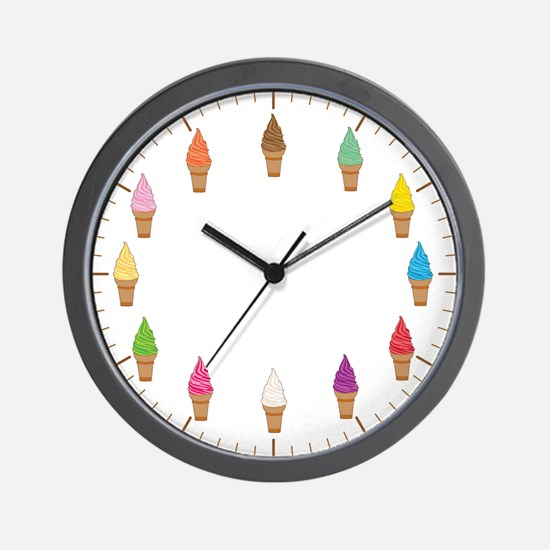 Ice Cream Cones Clock Wall Clock