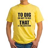 Excavation Mens Classic Yellow T-Shirts