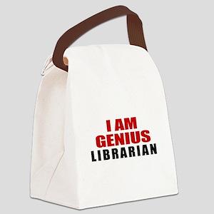 I Am Genius Librarian Canvas Lunch Bag