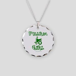 Pharm Girl Trans Necklace Circle Charm