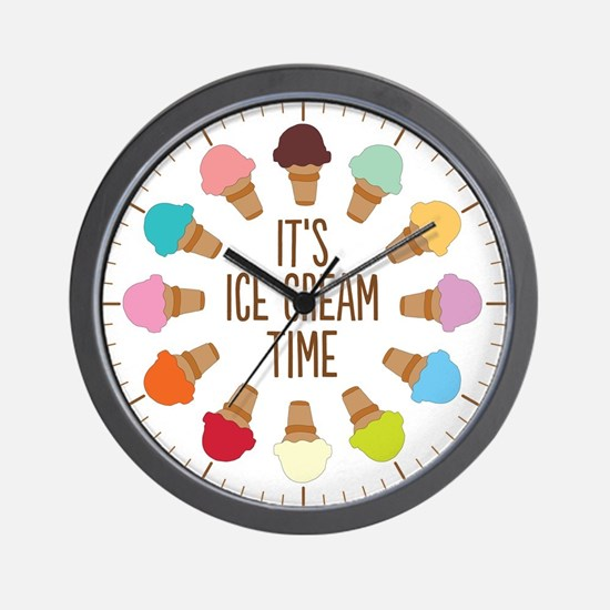 It's Ice Cream Time Wall Clock