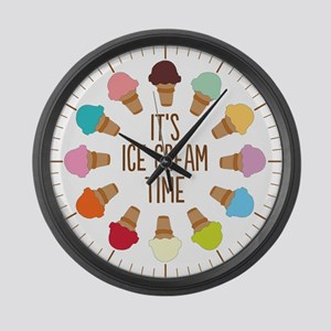 It's Ice Cream Time Large Wall Clock