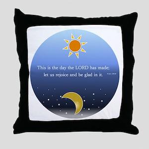 Psalm 118:24 Throw Pillow