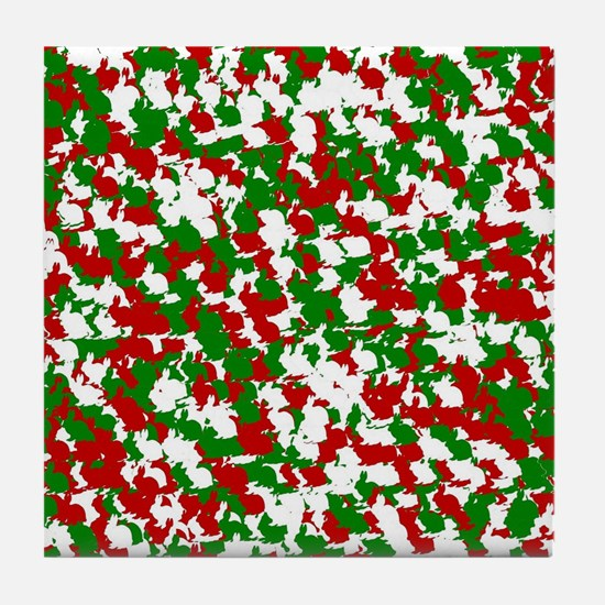 Funny Rabbit christmas Tile Coaster