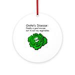 Crohn's Veggie Ornament (Round)