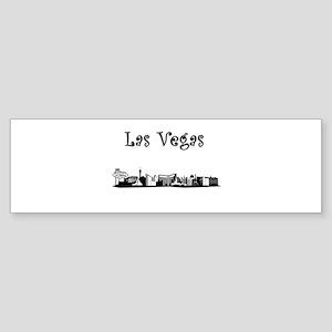 Las Vegas Skyline Bumper Sticker