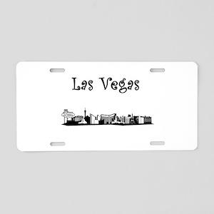 Las Vegas Skyline Aluminum License Plate