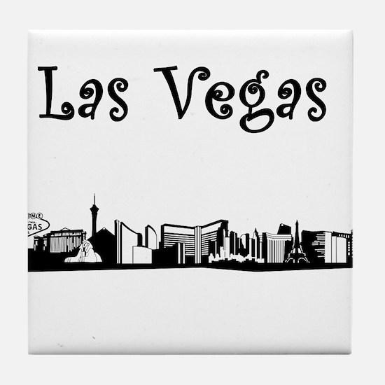 Las Vegas Skyline Tile Coaster