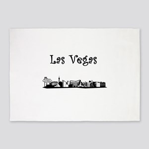 Las Vegas Skyline 5'x7'Area Rug