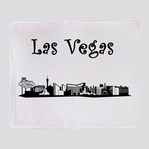 Las Vegas Skyline Throw Blanket