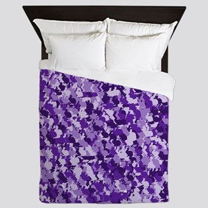 Purple Bunnyflage Queen Duvet