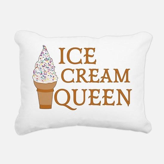 Ice Cream Queen Rectangular Canvas Pillow