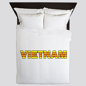 Vietnam Flag 001 Queen Duvet