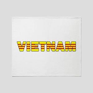 Vietnam Flag 001 Throw Blanket