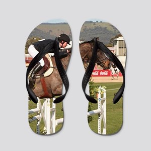 Show jumping horse and rider, Adelaide, Flip Flops