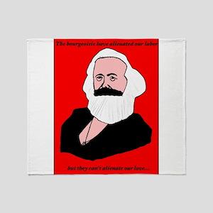 Marxist Valentine Throw Blanket