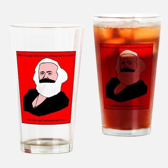 Marxist Valentine Drinking Glass