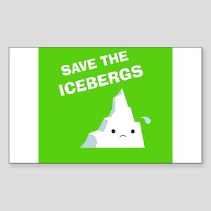 Save the Icebergs Rectangle Sticker