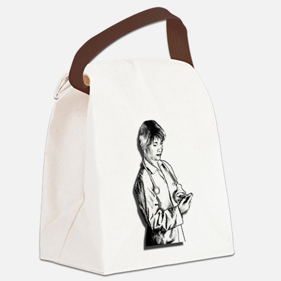 Lady Doctor Canvas Lunch Bag