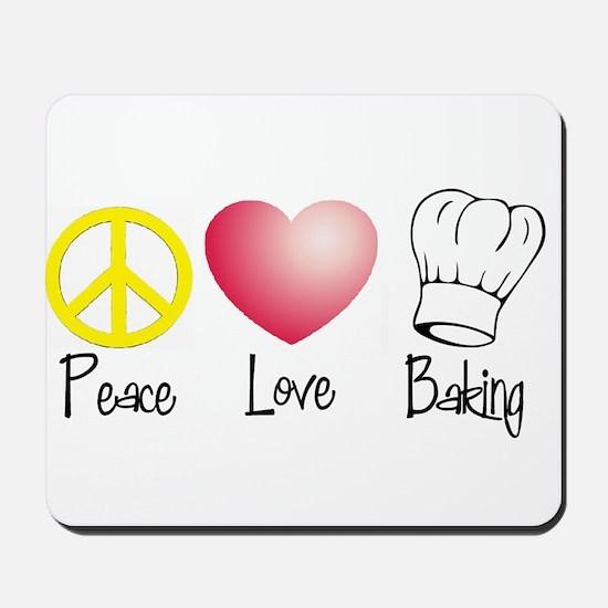 Peace, Love, Baking Mousepad