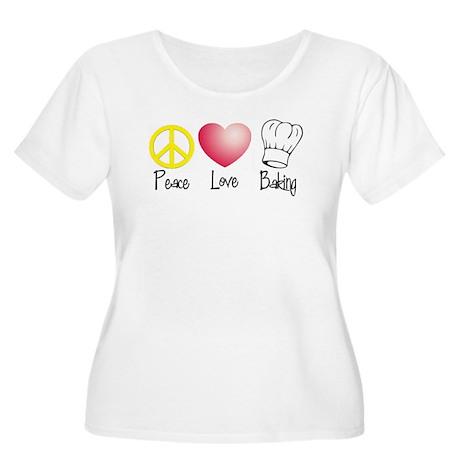 Peace, Love, Baking Women's Plus Size Scoop Neck T