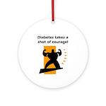 Diabetes Courage Ornament (Round)