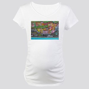 Colours of Manarola Maternity T-Shirt