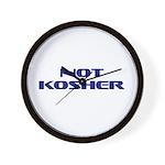 Not Kosher Wall Clock
