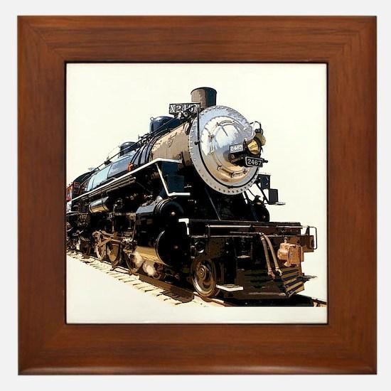 Cute Train Framed Tile