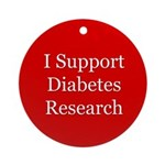 Diabetes Research Support Ornament (Round)