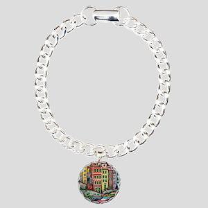 Colours of Riomaggiore Charm Bracelet, One Charm