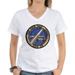 USS JOHN PAUL JONES Women's V-Neck T-Shirt