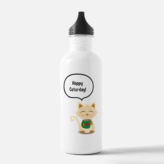 Cute Cat coffee Water Bottle